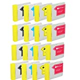 HI-VISION HI-YIELDS ® Compatible Ink Cartridge Replacement for Brother LC51 (4 Black, 4 Cyan, 4 Yellow, 4 Magenta, 16-Pack), Office Central