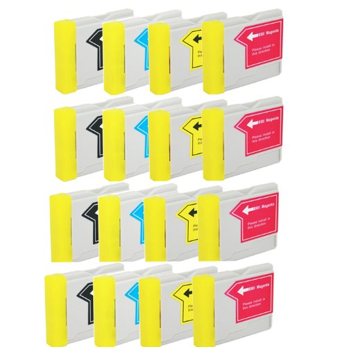 Brother Lc51 Compatible Ink - HI-VISION HI-YIELDS Compatible Ink Cartridge Replacement for Brother LC51 (4 Black, 4 Cyan, 4 Yellow, 4 Magenta, 16-Pack)