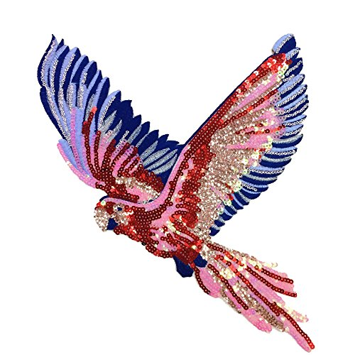 Eagle sequins bird applique patches vintage embroidered patch fashion Diy clothing decoration patch sewing accessories