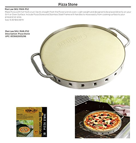 Ceramic Pizza Stone from Man Laww BBQ