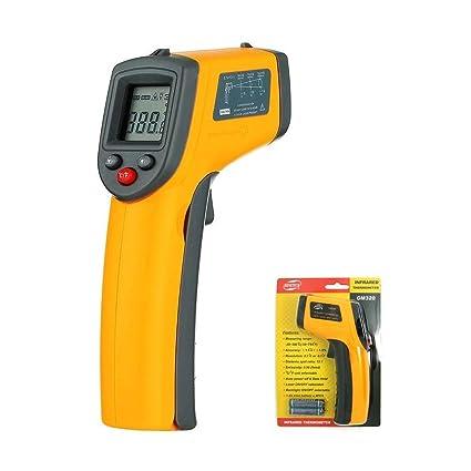 Termómetro Infrarrojo Digital,UPGOO Termómetro Láser Digital IR sin Contacto Pistola de Temperatura -50