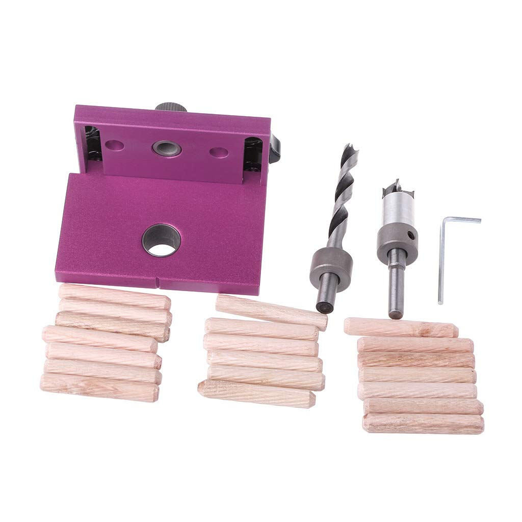 Kalttoy Woodworking Tool Drilling Locator-Tenon Hole Punchers Positioning Dowelling Jig