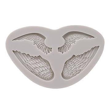 Molde de Silicona con Forma de alas de 4 ángeles para Fondant, Azúcar, Manualidades, Decoración de Pasteles, Herramientas de horneado: Amazon.es: Hogar