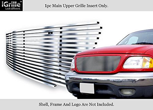 APS Compatible with 1999-2003 Ford F150 Lightning Harley Davidson Stainless Steel Billet Grille F65712S