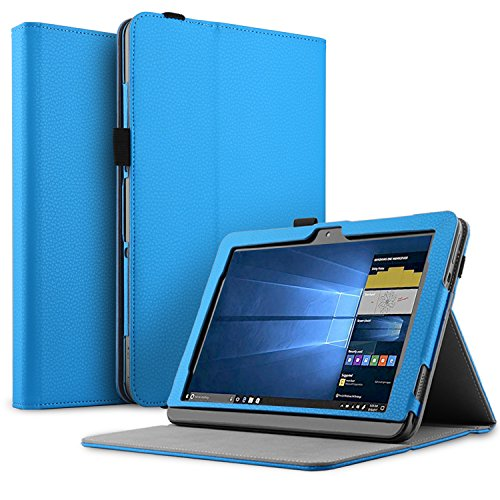 (IVSO Case for Asus Transformer Mini T103 Tablet, Ultra Lightweight Leather Stand Cover Case for Asus Transformer Mini T103 Tablet (Blue))