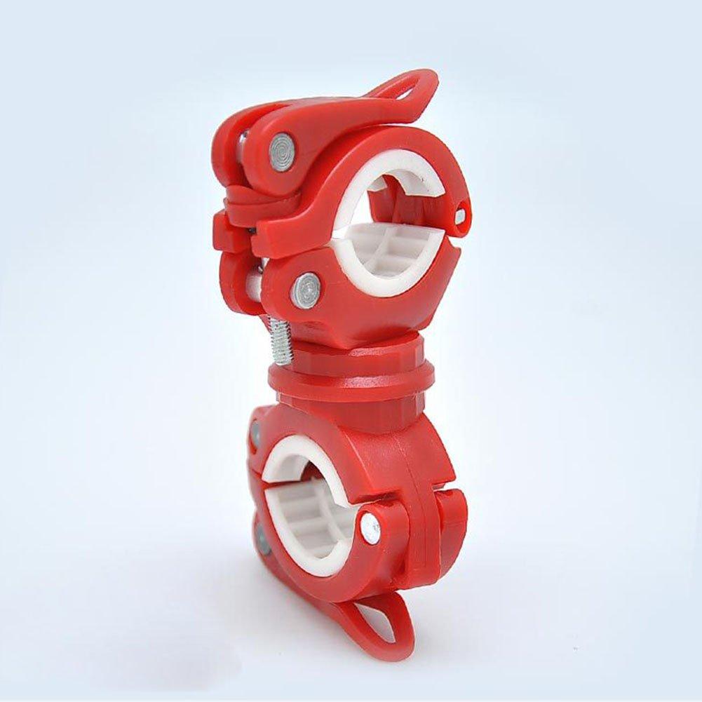 Wuudi Mountain Bike Lamp Holder Bike Light Frame Front Light Clips Flashlight Clip Sound Fixing Clip