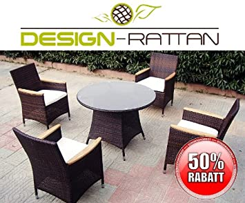 Amazonde Design Rattan Las Vegas Polyrattan Gartenmöbel
