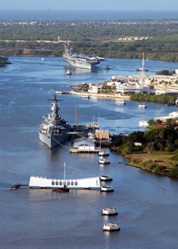 Home Comforts USS Carl Vinson (CVN 70) pulls past the Arizona Memorial and the battleship USS Missouri (BB 63)