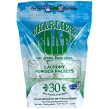 Charlie's Soap – Fragrance Free Powdered Laundry Detergent Packets – 30 Pods...