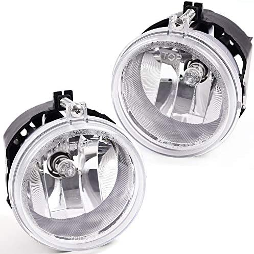 New One Pair Driver /& Passenger Side Fog Light Assembly For Dodge Grand Caravan Caliber Nitro Challenger//Jeep Patriot Compass//Chrysler Town /& Country Sebring Replaces 5182025AA CH2592142