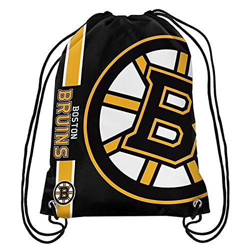 Official National Hockey League Fan Shop Authentic Drawstring NHL Back Sack (Boston Bruins) by Forever Collectibles