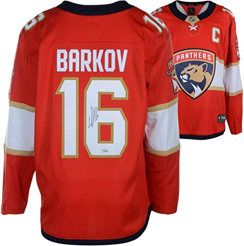 Jersey Authentic (Aleksander Barkov Florida Panthers Autographed Red Fanatics Breakaway Jersey - Fanatics Authentic Certified)