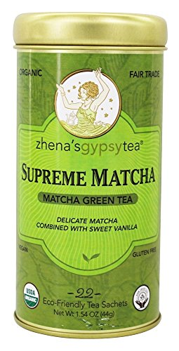 Zhenas Gypsy Tea Green Supreme Matcha, 22 ct