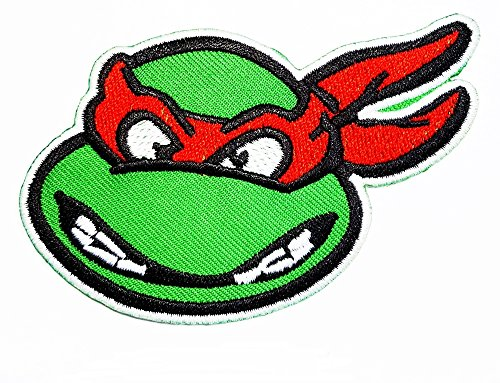 Teenage Mutant Ninja Turtles MICHELANGELO RED MASK patch patch Costume Cartoon Logo DIY Embroidered Sew Iron on Patch Cap Jacket Hoodie Backpack Ideal for Gift /10.2cm(w) x 6.5cm(h) - Squirtle Costume Diy