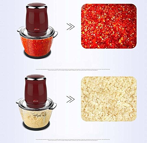TOPCHANCES Household Mini Electric Meat Grinder 500W Multi-function Automatic Quick Mince Mini Stainless Steel Meats Mincer Vegetable Fruit Mixer Chopper Food Grinding Mincing Mach- 220V by TOPCHANCES (Image #2)