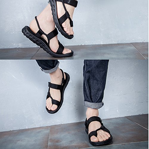Hommes La De Noir Hommes Uk8 Été Hommes Pantoufles Chaussures D'été eu37 Chaussures Double couleur Mode Plein Air 5 5 Sandales Cn43 Uk4 Des À Mazhong Plage Noir Cn37 eu42 En 5 qwFTItz