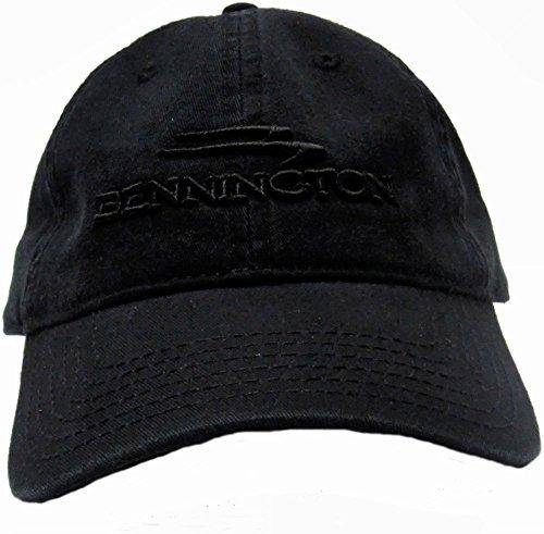 Otto Black Vintage Classic Soild Cap Embroidered Bennington Pontoon Logo