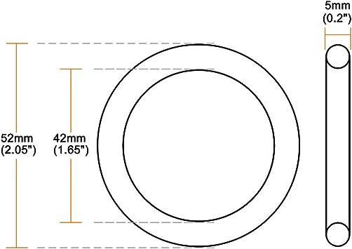 metrische Buna-N-Dichtung sourcing map 10 St/ück O-Ringe aus Nitrilkautschuk 45 mm Au/ßendurchmesser 42 mm Innendurchmesser 1,5 mm Breite