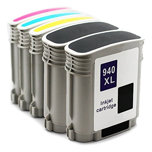 940 Combo Pack - Limeink Compatible Ink Cartridge Replacements 940XL High Yield for Officejet 8000 8000a 8500 8500a (2 Black / 1 Cyan / 1 Yellow / 1 Magenta, 5 Pack)