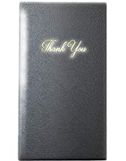 """Guest Check Card Holder - Presenter with Gold Thank You Imprint - 5.5"""" x 10"""" (Standard, Black_2_Pack, 2)"""