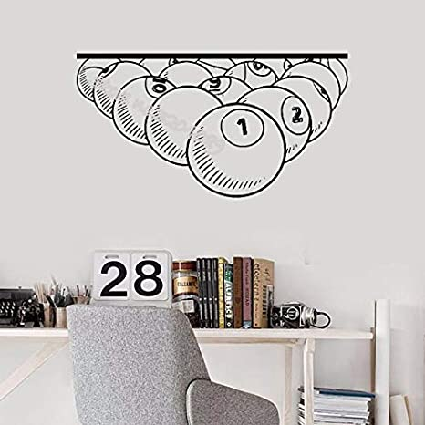 Billar Número de piscina Etiqueta de la pared Estudio de billar ...