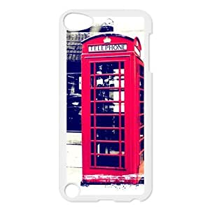 SpecialCasedesign Personalized Red Vintage London British Telephone Booth Ipod Touch 5th Case Best Durable Back Cover by supermalls