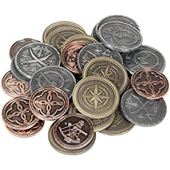 Amazon com: Metal Pirate Coins - 200 Gold and Silver Spanish