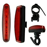 Voberry Ultra Bright 5 LED Bike Bicycle Rear Back Lamp Light with Retail Package