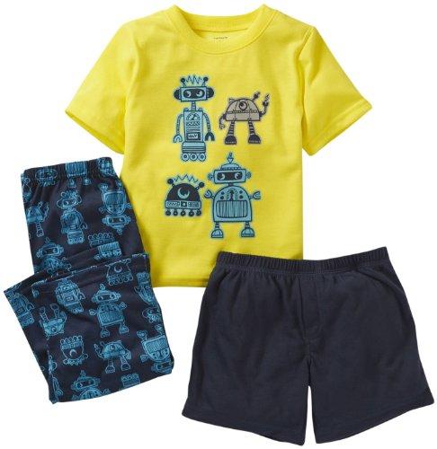 Carter's 3 Piece Printed PJ Set (Baby) - Robot-24 - Baby Boys Robot Carters