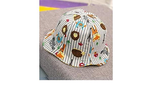 Sombrero de los niños Kids Animal Print Sombrero de cubo de doble ...