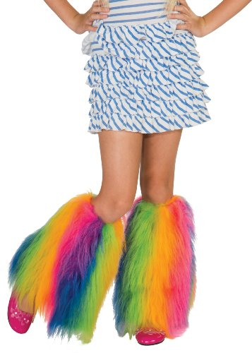 Rainbow Fluffies Leg Warmers (Boy Unicorn Costume)