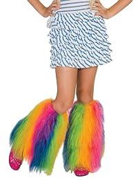 Rubies Costume Co Rainbow Fluffies Leg Warmers