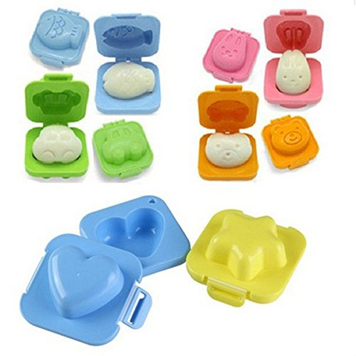 SQdeal HG6 Cartoon Cute Boil Egg Sushi Rice Decorating Mold Mould (Pack of (Egg Mold)