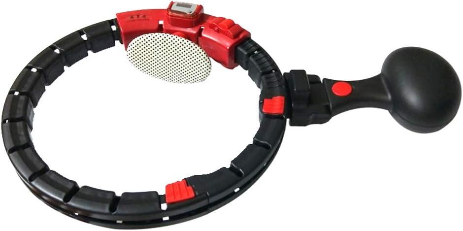 KADDGN Contar la pérdida de Peso Ajustable Deporte del aro de ABS Desmontable magnética del Cuidado médico de la Cintura Ejercicio Entrenamientos automático Reducción de Peso