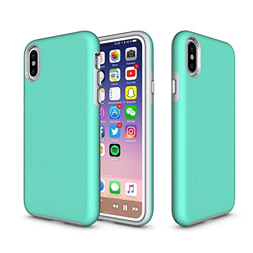 iPhone XS 2018 | X 2017 cover case. Ultra Thin Slim Design Hard PC Soft Flexible TPU Apple Phone Series. Wireless Charging Compatible. Anti Slip Grip, Shockproof, Drop Resistant. Matte ()