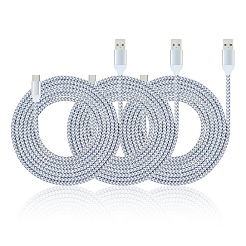 Type C Charger Cable, MIVINE 3 Pack 6Ft Braided USB C QC3.0 Fast Charging Data Cable for Galaxy Note 9 8 S9 S8 Oneplus 5 6 Google Pixel 2 XL LG G7 G6 G5 V30 Nintendo Switch MacBook Pro