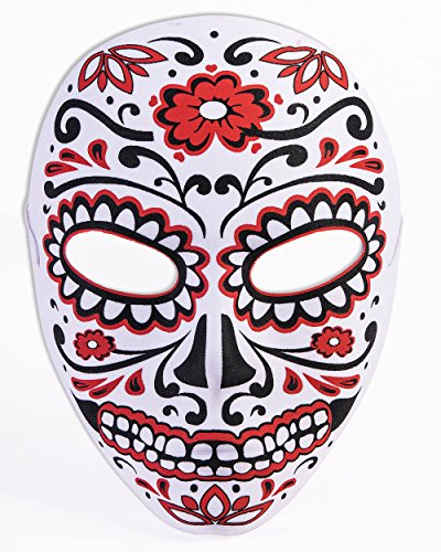 Forum Novelties Day of The Dead Half Mask Red/Black -