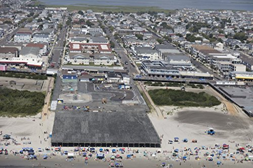 historic pictoric Photograph| Beaches Boardwalk and Amusement Parks on The New Jersey Shore in Wildwood, New Jersey 3 Fine Art Photo Reproduction 66in x 44in -