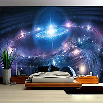 Amazon Com Amazhen Custom Wall Painting 3d Wallpaper Starry