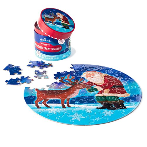 Hallmark Northpole MJJ1026 Glow-in-the-Dark Puzzle and Reindeer Food ()