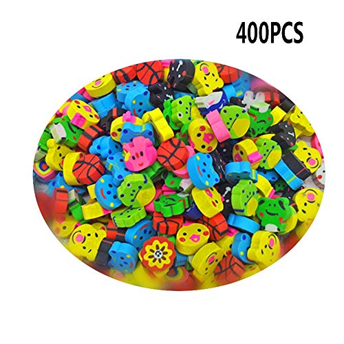 UPlama 400Pcs Assorted Adorable Collection Mini Eraser,Bulk School Erasers For Our Kids Gift by UPlama