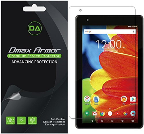 [3-Pack] Dmax Armor RCA Voyager 7 inch Tablet 16GB Quad Core (RCT6873W42) Screen Protector, Anti-Bubble High Definition Clear Shield- Lifetime Replacements Warranty- Retail Packaging (Tablet Screen For Rca Protector 7)