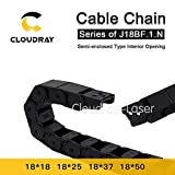Ochoos Cable Chain Semi-Enclosed Interior Opening 18x18 18x25 18x37 18x50 Drag Plastic Towline Transmission - (Inner Size: 18x25 mm, Bending Radius: 60mm)