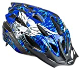 Mongoose Thrasher Lightweight Microshell Helmet Featuring Dial-Fit Adjustability, Youth, Blue
