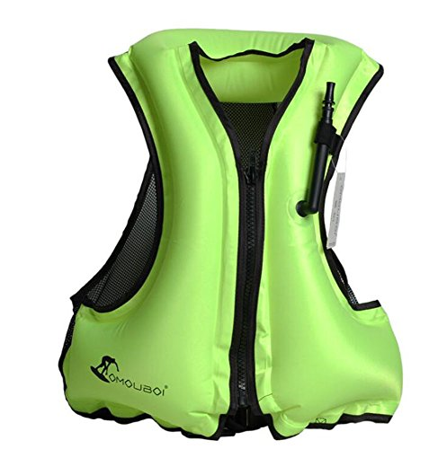Kingswell Adult Portable Inflatable Swim Vest Life Buoyancy Jacket Safety Vest For Snorkeling, Diving ()