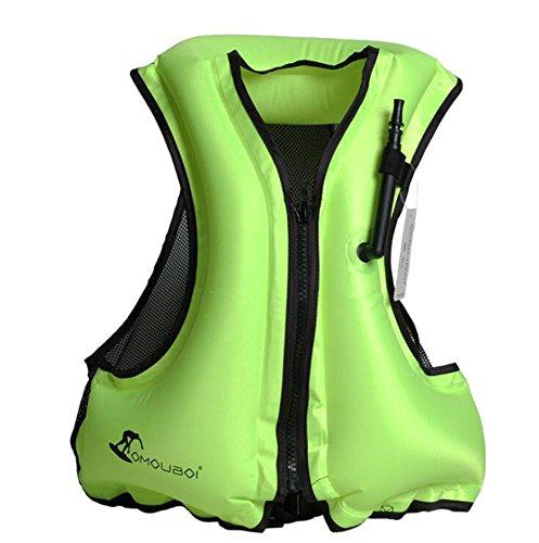 Kingswell Adult Portable Inflatable Swim Vest Life Buoyancy Jacket Safety Vest For Snorkeling, Diving