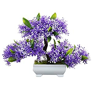 Zhuhaitf Artificial flowers Plant Bonsai Tree for Living Room indoor Decoration 75