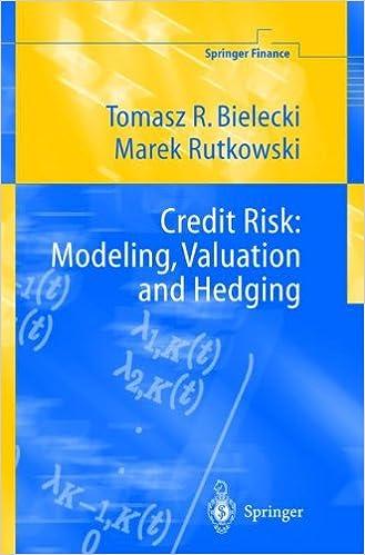 Amazon Com Credit Risk Modeling Valuation And Hedging Springer