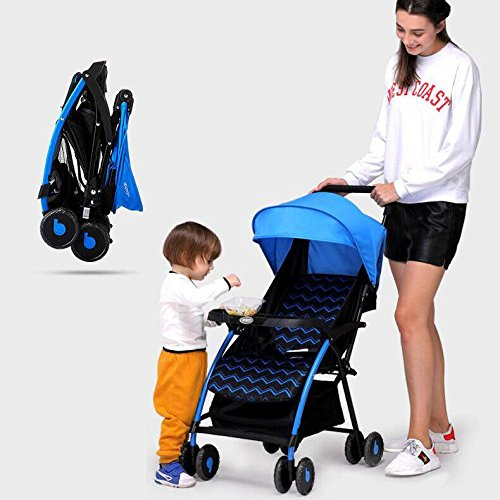 GAOYY0202 Baby Stroller Foldable Four-wheeled Cart Adjustable Safety Cart Four-wheel Universal Tilting Stroller (folding Size 25.59.8inch, Load Capacity ()