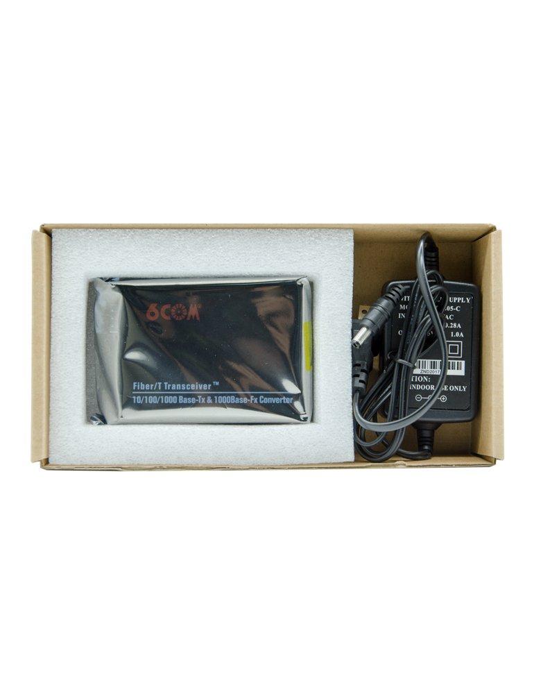 6COM Gigabit Ethernet Media Converter, 10/100/1000Base-TX to 1000Base-FX SFP Slot, without Transceiver by 6COM (Image #5)